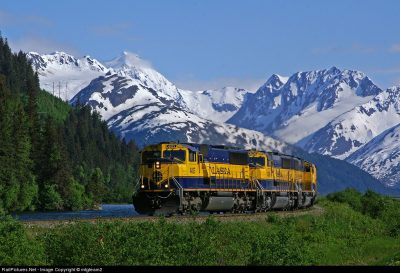 Train ride through Alaska