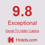 9.8 exceptional rating from hotels.com